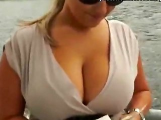 Huge Tits Blonde Amateur Takes Money From A Stranger Then